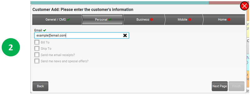 7 4 1  Customer Boarding Profile in POS